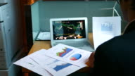 Businesswomen working about financial analysis with Laptop and printed charts, 4k(UHD)