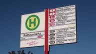 MS Busstop board at city hall/ Hamburg, Hamburg, Germany