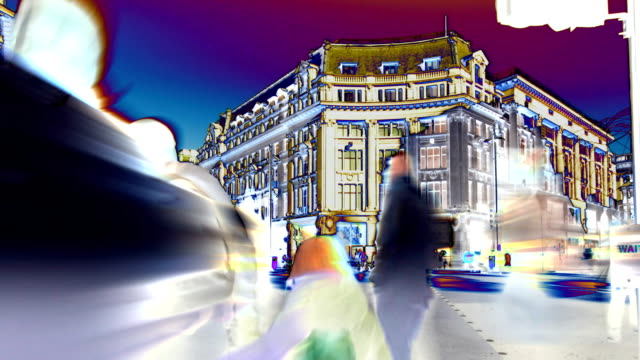 Bust street abstract time-lapse. HD
