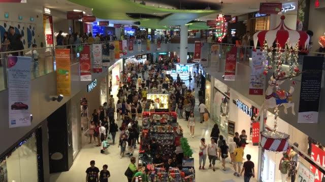 Bustling crowd ad Vivo City Mall, Singapore