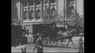 Busy 1900s New York Street
