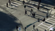 Busy Crosswalk, Aerial View