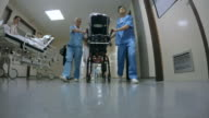 POV Busy hallway of a hospital