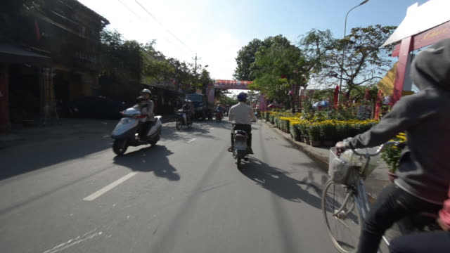 Busy Hoi An streets during Tet festival, Vietnam