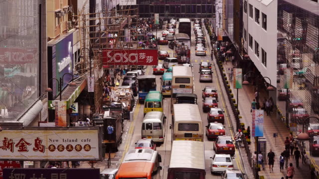 Busy Hong Kong Traffic in Kowloon