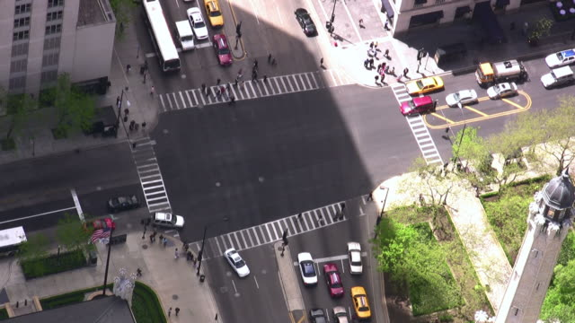 Busy Intersection in Chicago timelapse