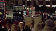 Busy London street in the evening
