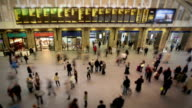 Busy London train station