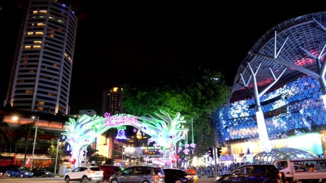 Orchard Road druk tijdens feestelijke Kersttijd