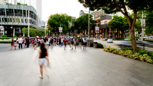 Occupato Orchard Road di Singapore