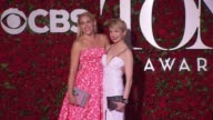 Busy Philipps and Michelle Williams at 2016 Tony Awards Red Carpet at The Beacon Theatre on June 12 2016 in New York City
