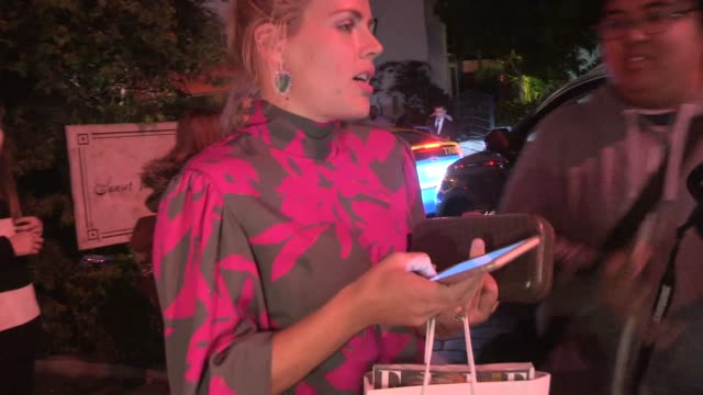 Busy Philipps greets fans while departing ELLE's Women In Television Celebration at the Sunset Tower in West Hollywood in Celebrity Sightings in Los...