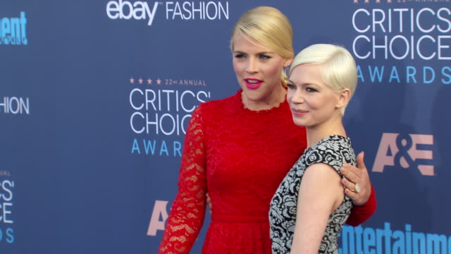 Busy Philipps Michelle Williams at 22nd Annual Critics' Choice Awards in Los Angeles CA