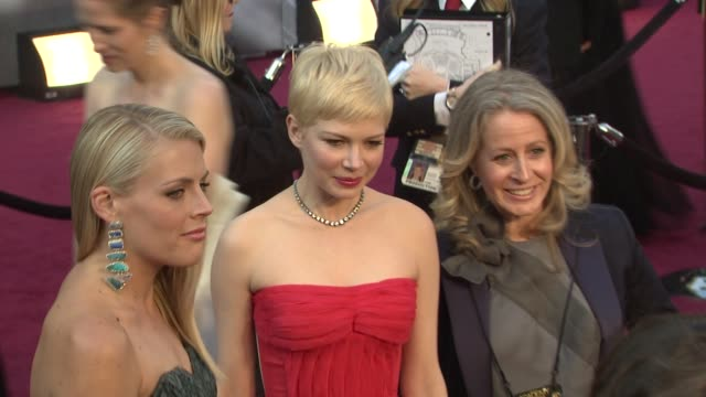 Busy Philipps Michelle Williams at 84th Annual Academy Awards Arrivals on 2/26/12 in Hollywood CA