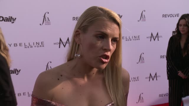 INTERVIEW Busy Philipps on the event at The Daily Front Row Fashion Los Angeles Awards 2017 in Los Angeles CA
