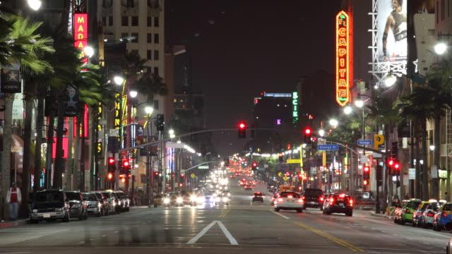 Los angeles streets at night
