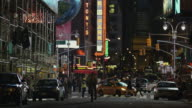 WS Busy street at night / New York City, New York State, USA