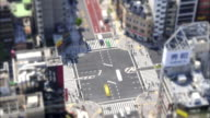 T/L SELECTIVE FOCUS HA Busy street intersection, Tokyo, Japan