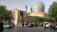 WS Busy street intersection with Imam Mosque in background, Isfahan, Iran