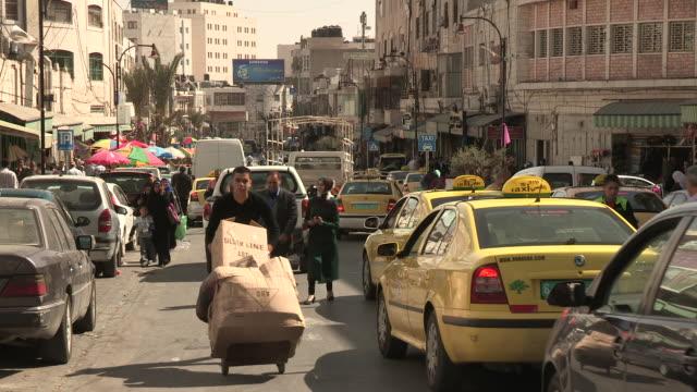 Busy Street, Ramallah, Palestine