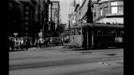 Busy street scene Busy street scene corner of Market and Powell str on January 01 1940 in San Francisco California