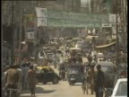 Busy street scene in Rawalpindi Pakistan