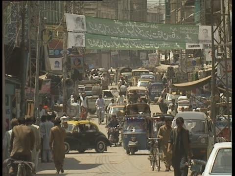 Busy street scene in Rawalpindi Pakistan