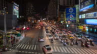 Busy Traffic at night after work