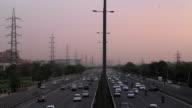 Busy traffic at the Delhi-Gurgaon expressway, a part of national highway 8, at Udyog Vihar, Gurgaon, Haryana