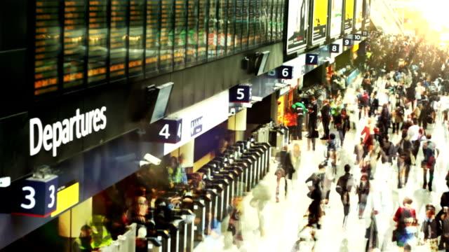 Busy Train Station. HD