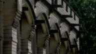 Buttresses frame window arches at Carlton Towers. Available in HD.