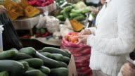 buying vegetables