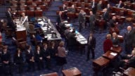 By a vote of 5643 with three Democrats voting in favor the united states senate voted after a week of floor debate to confirm former ExxonMobil CEO...