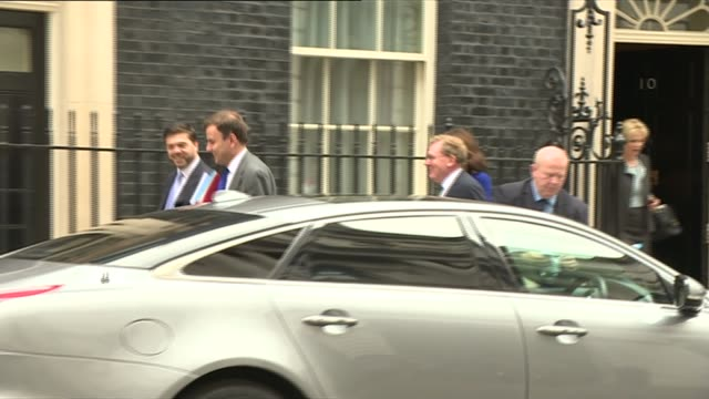 Cabinet and Chancellor posing with red box ENGLAND London RUSHES *** Cabinet departures from Number 10 including Philip Hammond MP Amber Rudd MP and...