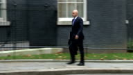 London Downing Street EXT Jeremy Hunt MP along to Downing street / Patrick McLoughlin MP along / Sajid Javid MP along / Vince Cable MP arrives / Iain...
