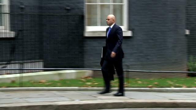 London Downing Street EXT Jeremy Hunt MP along to Downing street / Patrick McLoughlin MP along / Sajid Javid MP along / Vince Cable MP arrives / Iain...