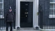 London Downing Street EXT Greg Clark MP arriving / Patrick McLoughlin MP arriving / Jeremy Hunt MP out of car / Chris Grayling MP / Theresa Villiers...