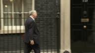 London Downing Street EXT Theresa May MP along arriving at Number Ten / Robert Halfon MP arriving at No 10 / Michael Gove MP arriving / David Mundell...