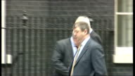 London Downing Street EXT Theresa May MP arriving / Ken Clarke arriving / Sir George Younger MP arriving with Lord Strathclyde / Owen Patterson MP...