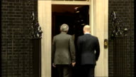 London EXT Ken Clarke arriving / Eric Pickles MP arriving / Lord Strathclyde arriving / William Hague MP and Andrew Mitchell MP arriving / Sir George...