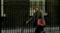 Cabinet arrivals for weekly Cabinet meeting Harriet Harman MP along and into No 10