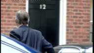 Cabinet arrivals Geoff Hoon MP out of car as away to Number 12 Downing Street