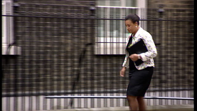 Cabinet arrivals Yvette Cooper MP along with Ed Balls MP Baroness Scotland along Jack Straw MP along Jacqui Smith MP from car followed by Shaun...