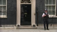 Cabinet departures Various police officer outside Number 10 and arrivals