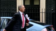 Cabinet meeting arrivals and departures Geoff Hoon MP out of car and into number 10