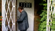 Ken Clarke doorstep ENGLAND London EXT Kenneth Clarke MP steps out of house and comments to press SOT I agreed with David when I arrived I'm...