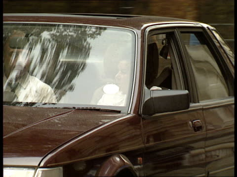 Ministers at Downing Street ITN London Downing Street John Major out of car and into No 10 / Douglas Hogg along Downing Street / Norman Lamont out of...
