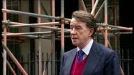 Peter Mandelson statement ENGLAND London Downing Street EXT Peter Mandelson press conference SOT I very much enjoyed my work in Europe but the PM has...