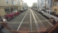 Cable Car POV in San Francisco along the Hyde Street line.