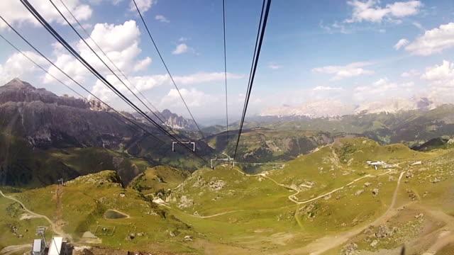 Seilbahn über die Alpen-Dolomiten